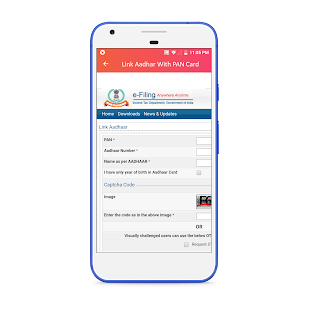 Link Aadhar With Pan Card - náhled