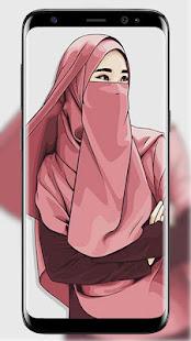 Hijab Wallpapers Muslimah cartoon - náhled