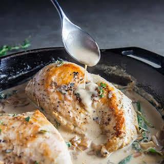 White Wine Cream Sauce Chicken & Thyme.