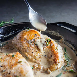 White Wine Cream Sauce Chicken & Thyme.