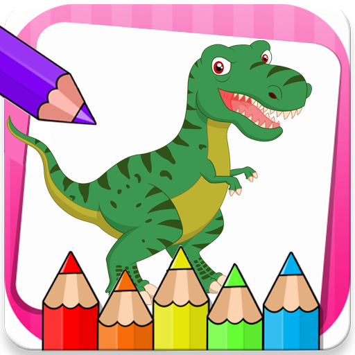 Dinosaurs Coloring Book Super Game Icon