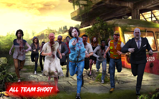 Zombie War Shooting - Commando Zombie Shooter Game 3 screenshots 5