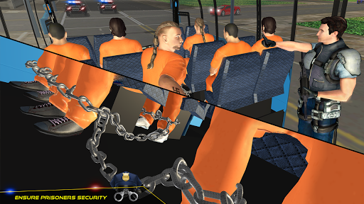 US Police Bus Transport Prison Break Survival Game 4.0 screenshots 2