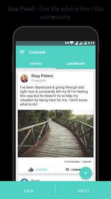 Counsel - Real time advice - screenshot