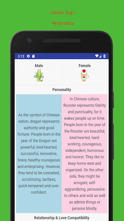 Chinese Zodiac Love Compatibility Test – (Android Apps) — AppAgg