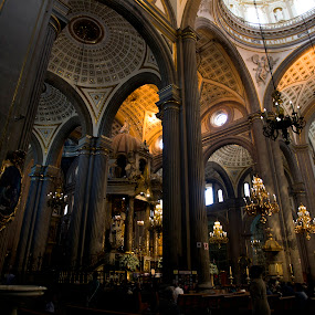 Cathedral by Cristobal Garciaferro Rubio - Buildings & Architecture Architectural Detail ( interior, church, mexico, puebla, cathedral, domes )