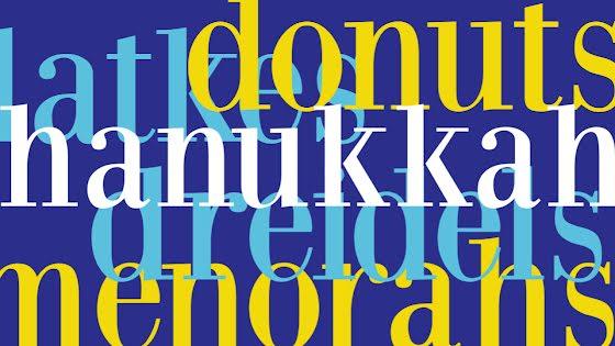 Donuts & Dreidels - Hanukkah Template