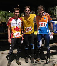 Photo: These fellows look fast! [Top three in the 2012 Billygoat held at Moreau Lake State Park]