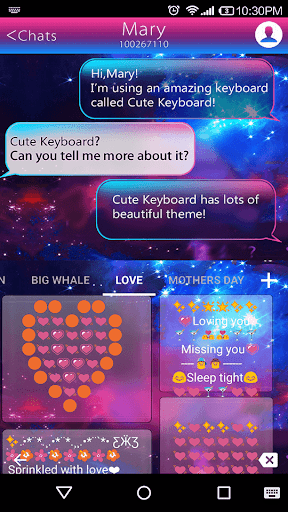 Color Galaxy Emoji Keyboard  screenshots 4