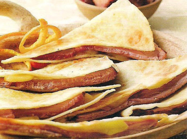 Ham And Brie Quesadillas With Cranberry Salsa Recipe