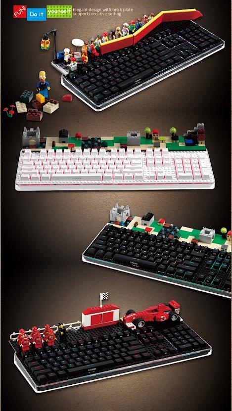 i-Rocks K76 Keyboard-Brick Plate - Độc đáo chiếc phím cơ kết hợp LEGO