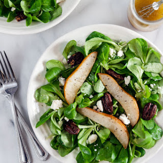 Winter Salad with Roast Pears and Vanilla Vinaigrette Recipe