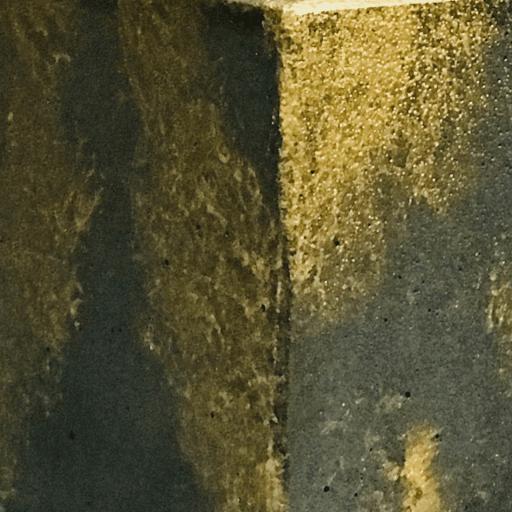 béton avec poudre dorée