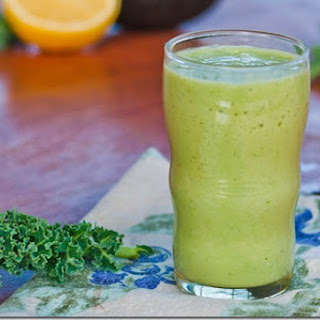 GreenTea-Kale-Avocado Smoothie