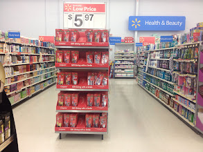Photo: The endcap display was right in the health and beauty area near the toothbrushes.