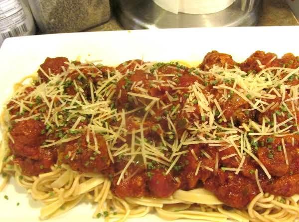 Boneless Neck Bone And Meat Ball Pasta Gravy