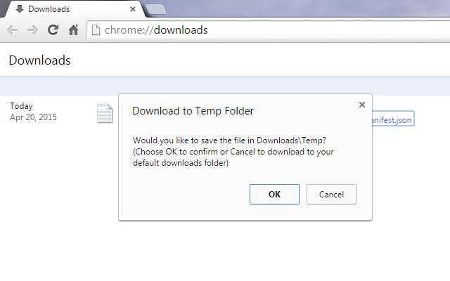 Download to Temp Folder