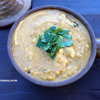 Cauliflower Channa Dal Masala Curry.