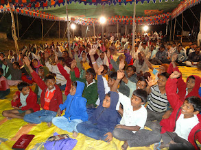 Photo: This was the crowd the first night at Etikala village. We estimated approximately 300+.