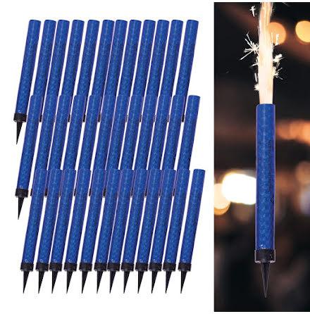 Isfacklor, blå 12 cm 36 st