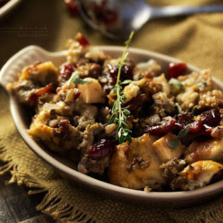 Harvest Apple Cranberry and Sage Sausage Stuffing