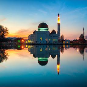 Assalam Mosque by Azri Suratmin - Travel Locations Landmarks