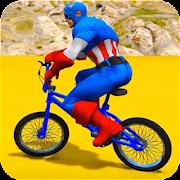 Superheroes Bmx Racing: Bicycle Xtreme Stunts
