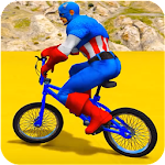 Superheroes Bmx Racing: Bicycle Xtreme Stunts Icon