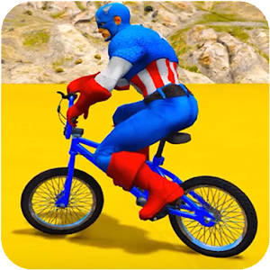 Superheroes Bmx Racing: Bicycle Xtreme Stunts