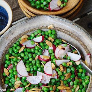Sweet Pea, Toasted Almond & Radish Salad