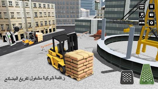 مدينة اعمال بناء محاكاة رافعة شوكية شاحنة نقل لعبه 6