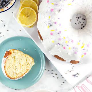 Lemon Lavender Bundt Cake.