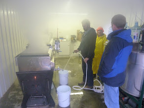 Photo: Maple syruping with Shad and Chris
