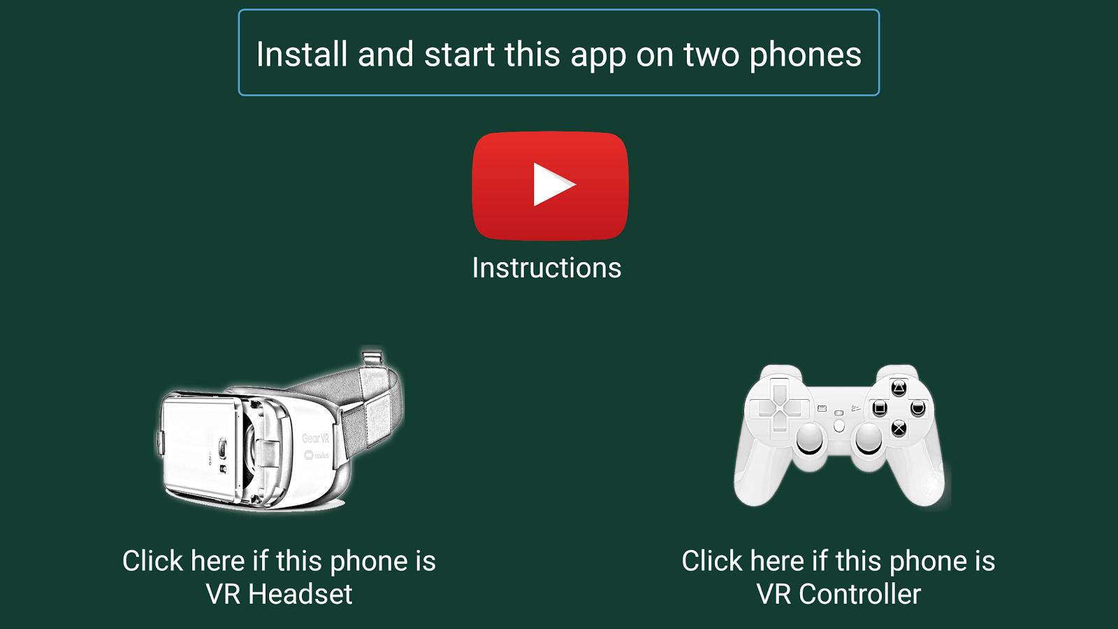 evo vr bluetooth controller instructions