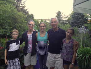 Photo: Our family in the garden