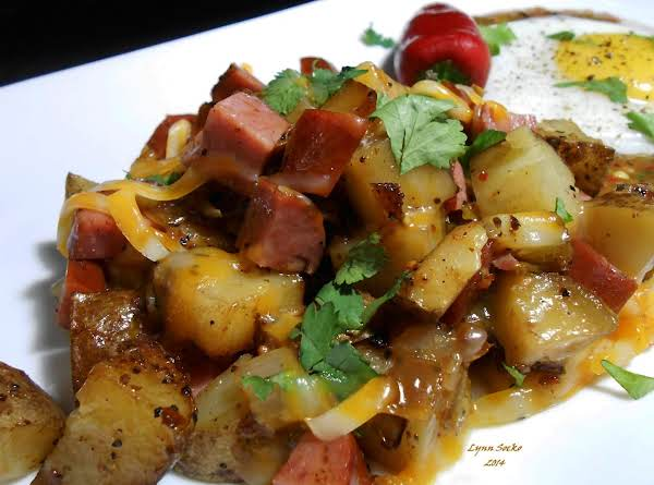 Grilled Sausage And Potato Hash