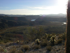 Photo: Looking South to the Agua Fria river valley and further to Lake Pleasant.