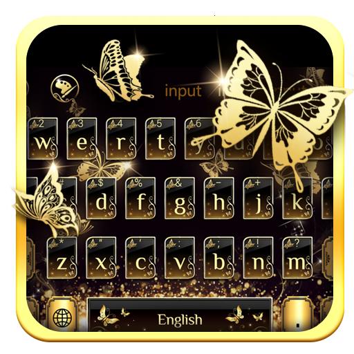 Gilt Butterflies Shiny Typewriter Theme