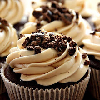 Chocolate Espresso Cupcakes with Kahlua Cream Cheese Frosting.