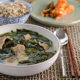Beef Seaweed Soup.
