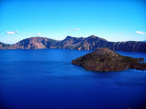 Photo: Wizard Island,Crater Lake National Park