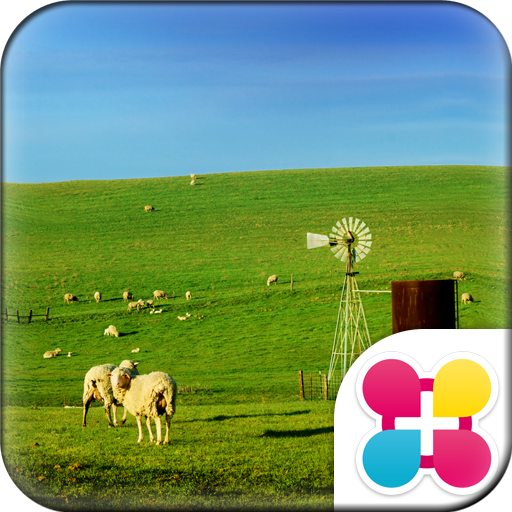 Sheep Wallpaper Blue Sky Farm Icon