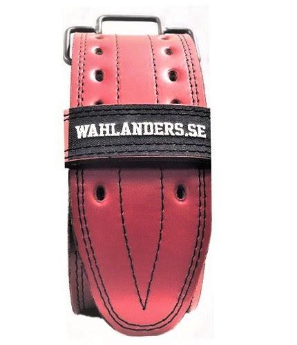 Wahlanders Bälte röd med svart söm - Large