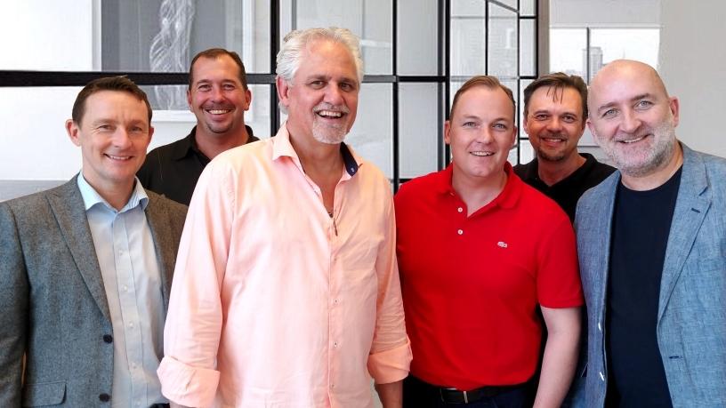 Left to right - James Mesney, Kevin Hardy, Alan Cowley, Stuart Pearch, Wayne Borcher, Justin Lancaster.