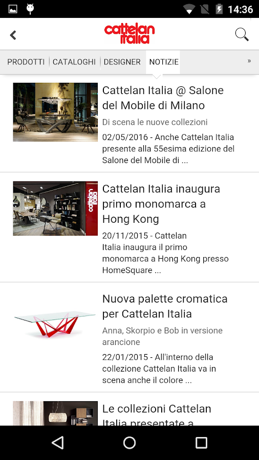 Cattelan Italia- screenshot