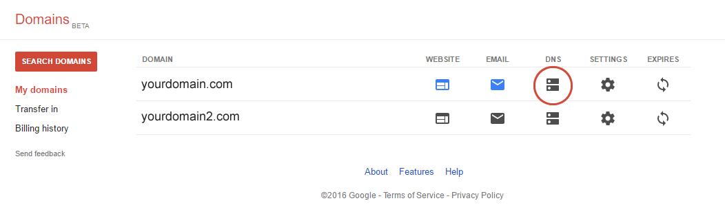 Google Domain Names - Free Webstore Help Guide