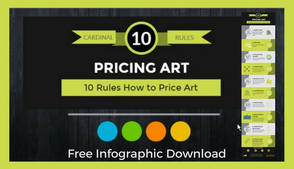 10 Cardinal Rules How to Price Art infographic