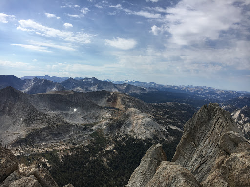 High peaks from the summit of Whorl