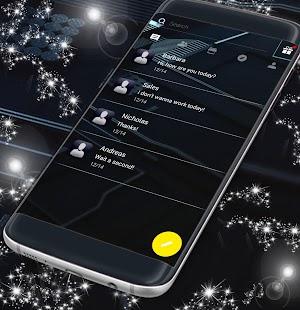 Flat Dark SMS Theme - náhled
