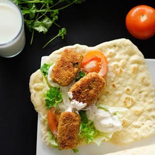 Bulgur Falafel Wraps with Yogurt Tahini Sauce